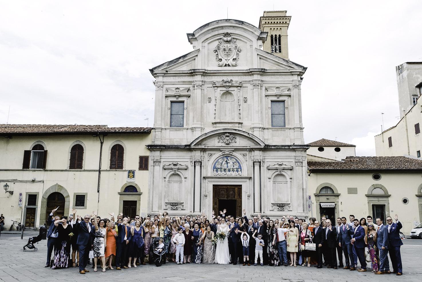 Catholic wedding at Ognissanti church in Florence