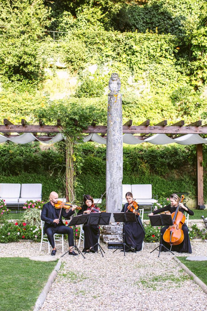 String quartet for wedding cocktail