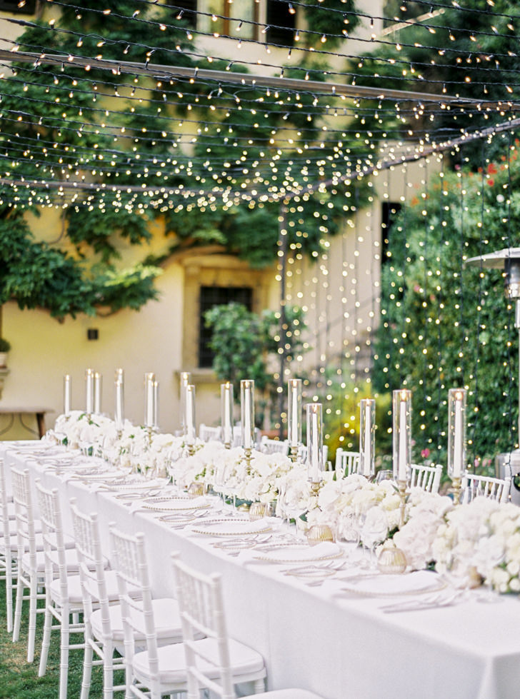 Wedding reception at Belmond Villa San Michele