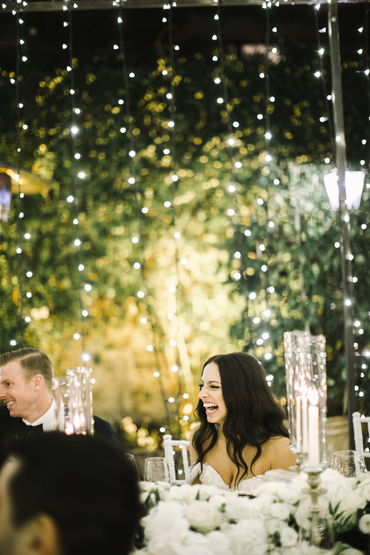 A moment of the wedding reception