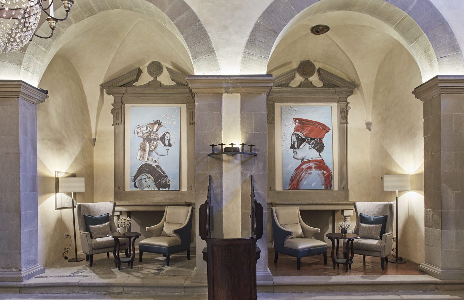 Lobby of Villa San Michele