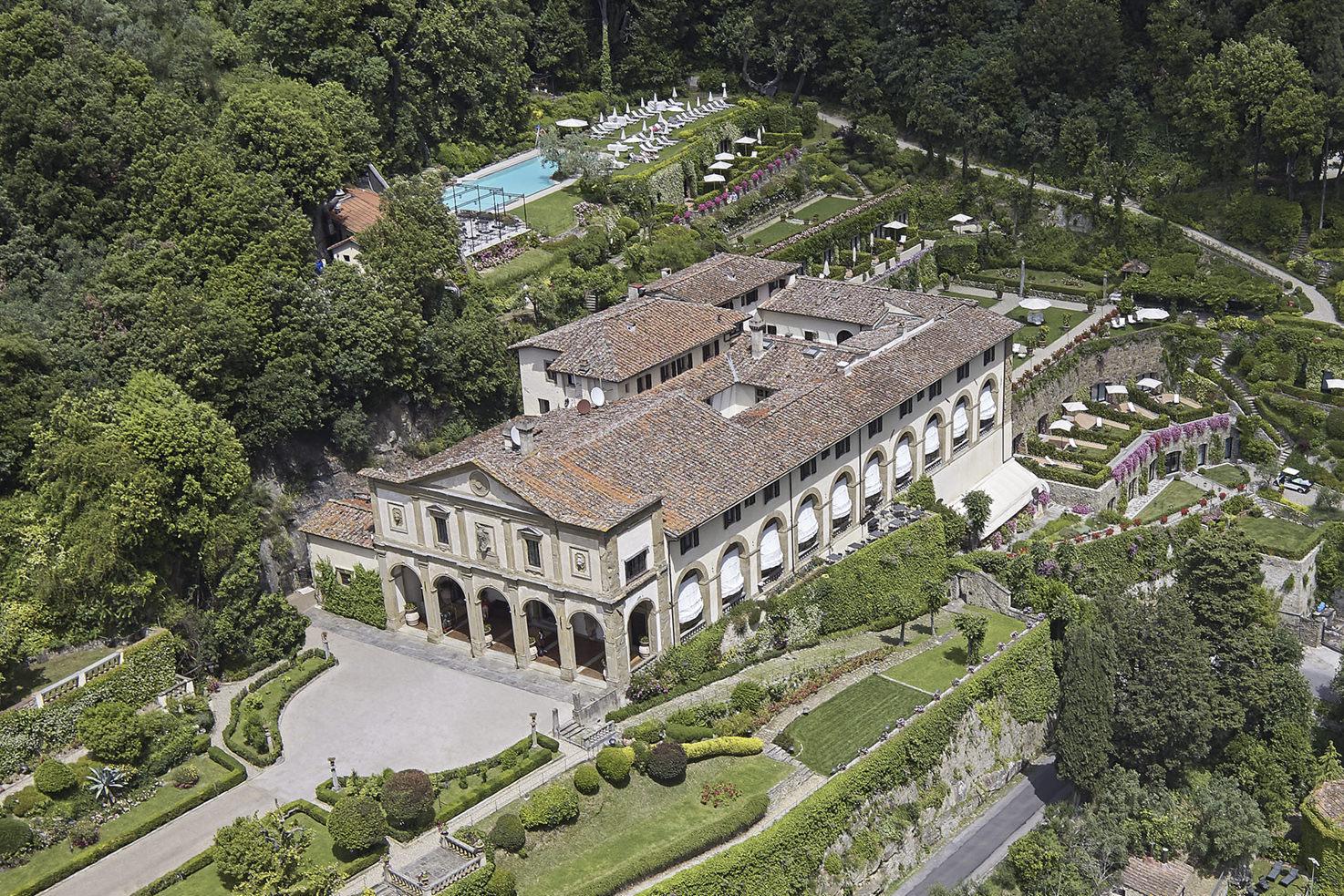 Aerial view of Belmond Villa San Michele, Florence