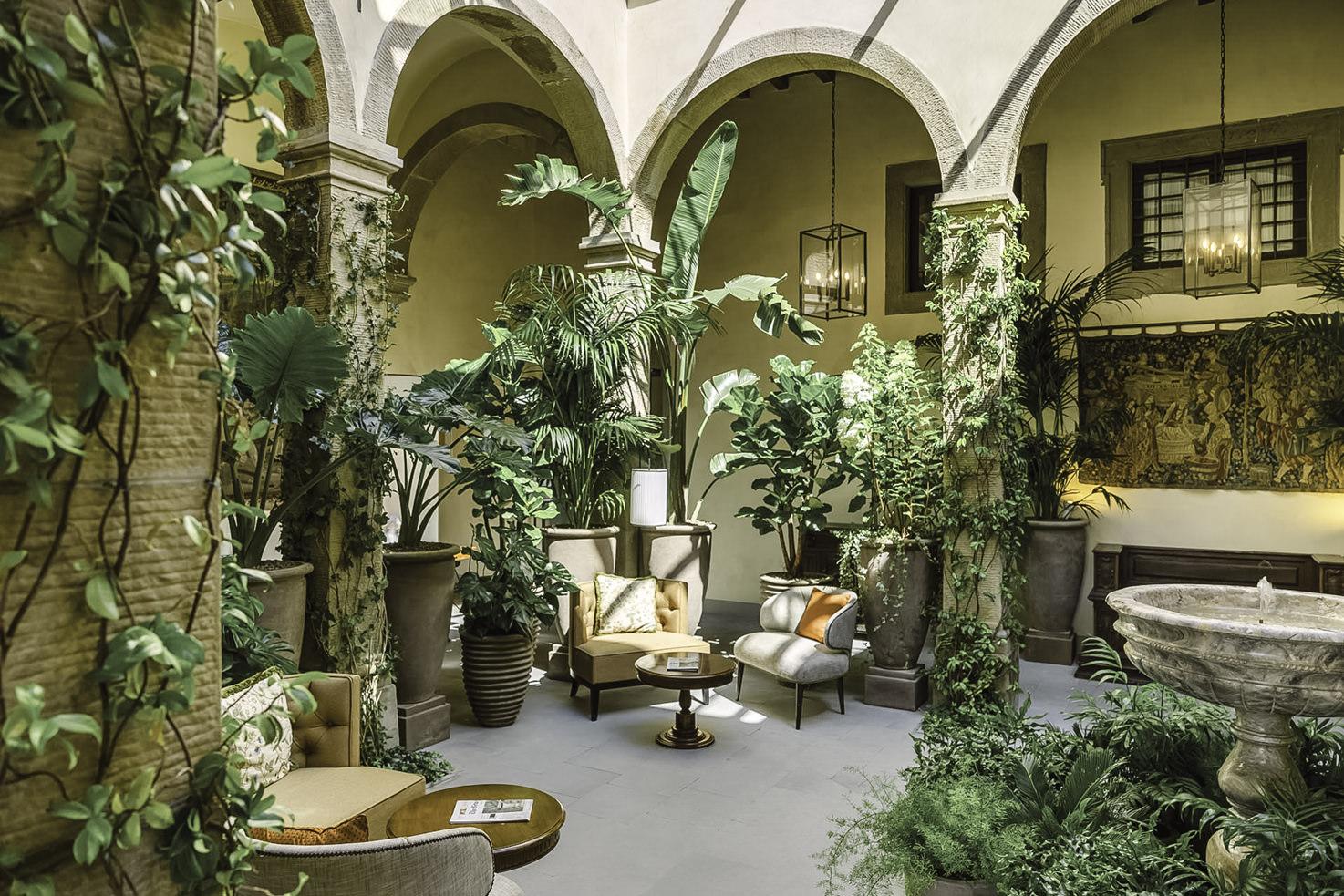 Interior of Belmond Villa San Michele