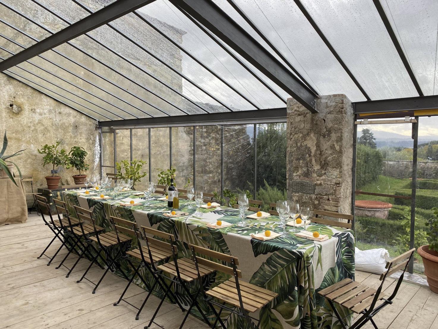 Wedding reception in the greenhouse of Villa di Maiano