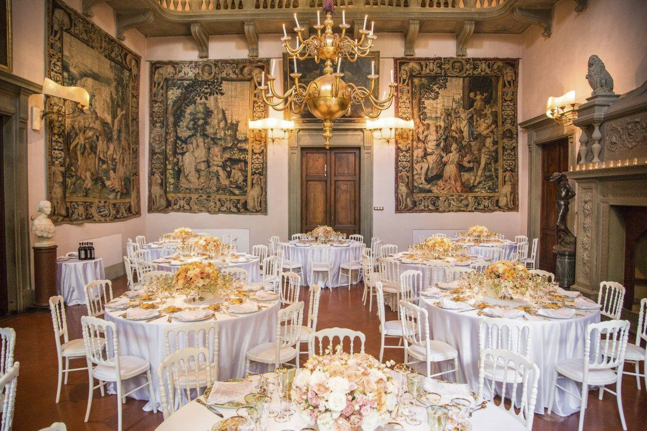 Wedding banquet in the tapestry room