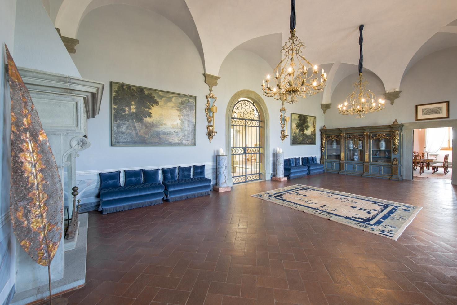 Frescoed hall at Villa Gamberaia