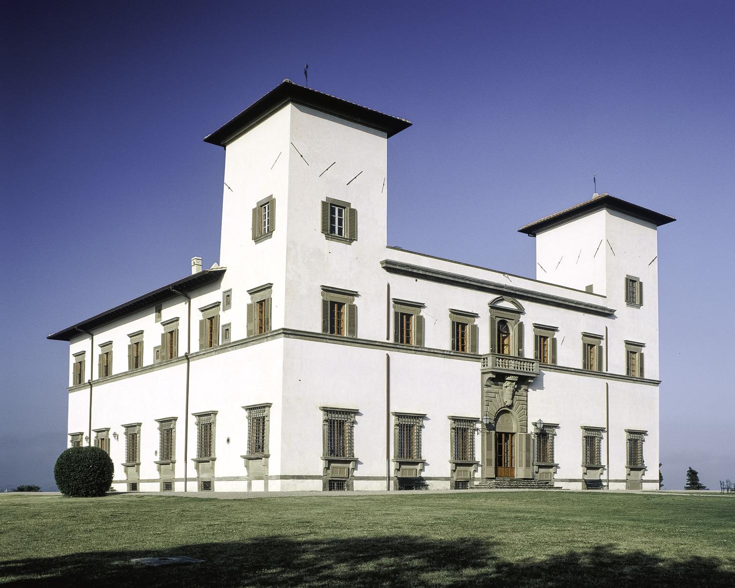 Exterior of Villa Le Corti near Florence