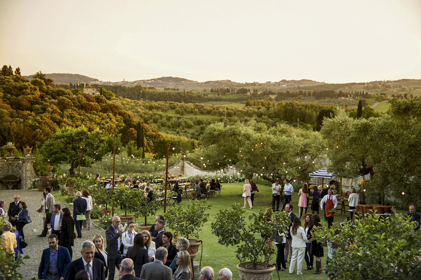 Wedding cocktail at Villa di Lilliano