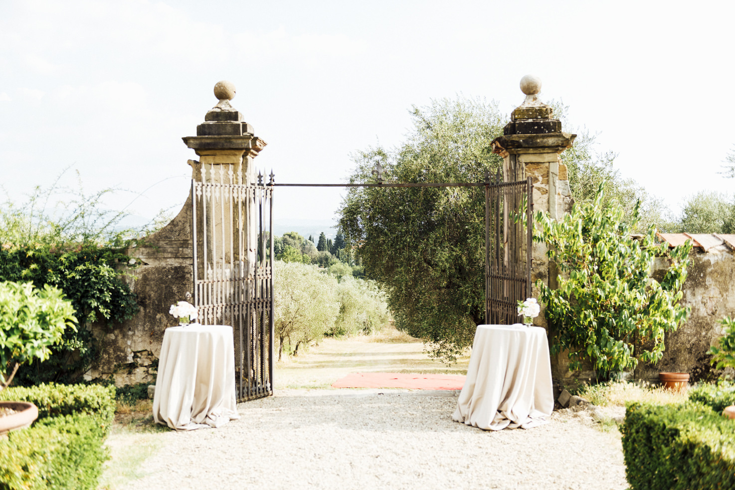 Decoration for the entrance of the Villa
