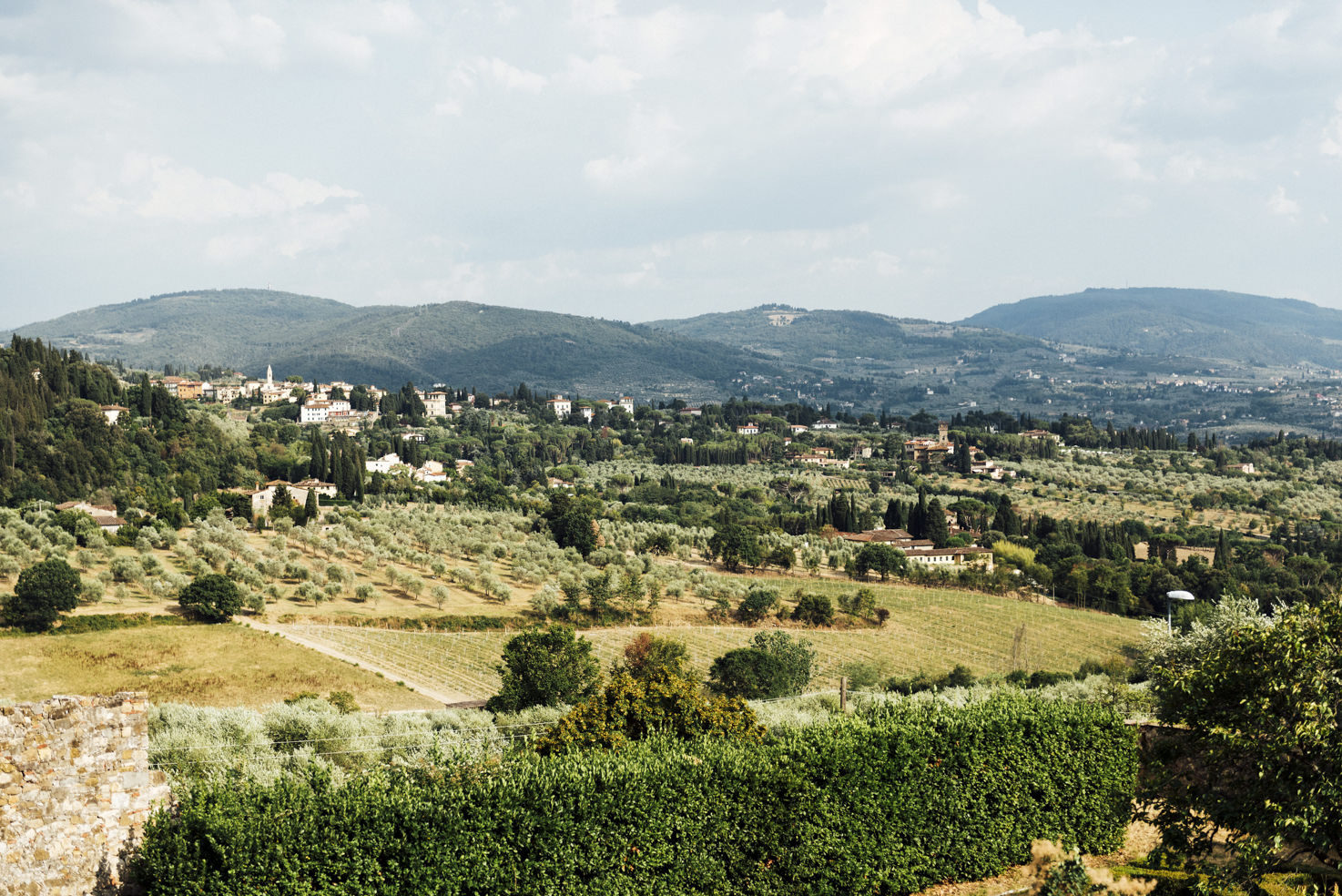 View over the Florence countryside