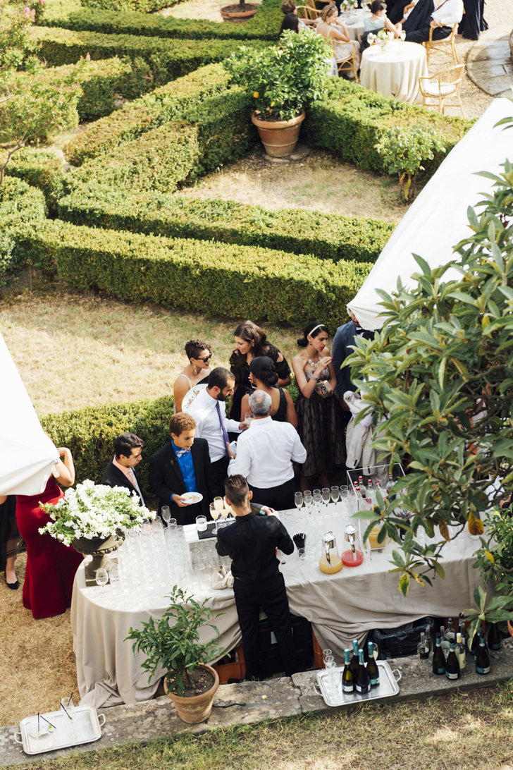 Wedding cocktail at Villa di Maiano