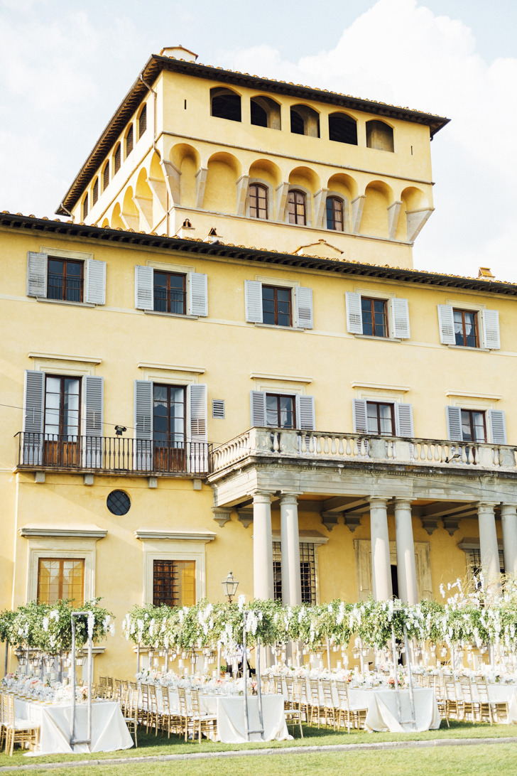 Façade of Villa di Maiano