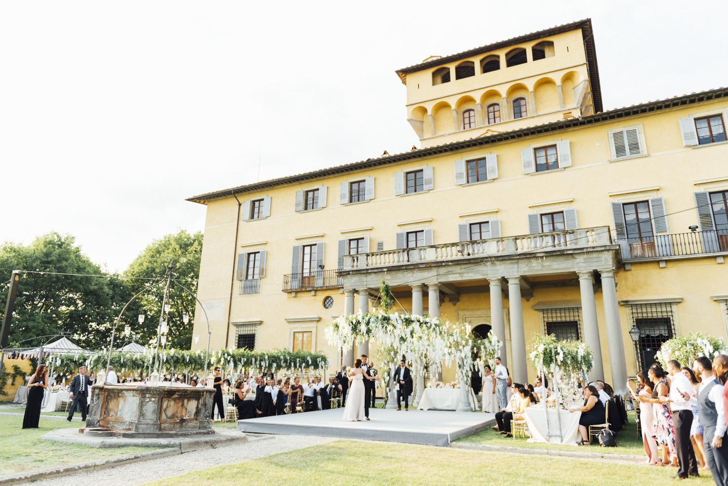 Wedding reception at Villa di Maiano