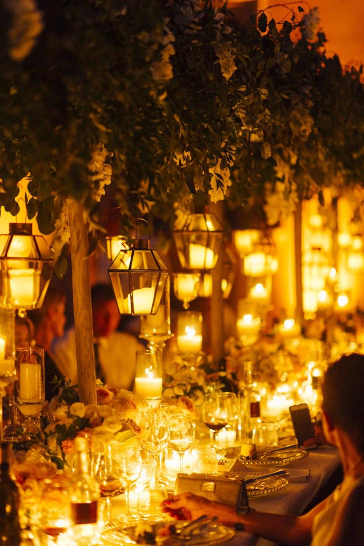 Wedding banquet at Villa di Maiano