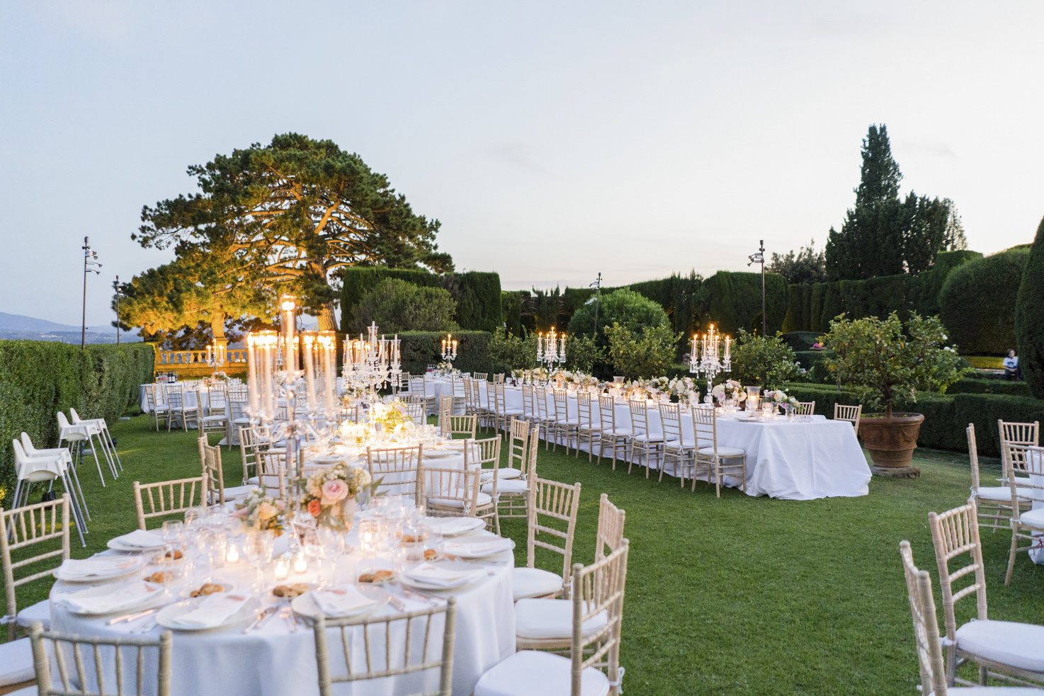 Wedding reception in the gardens