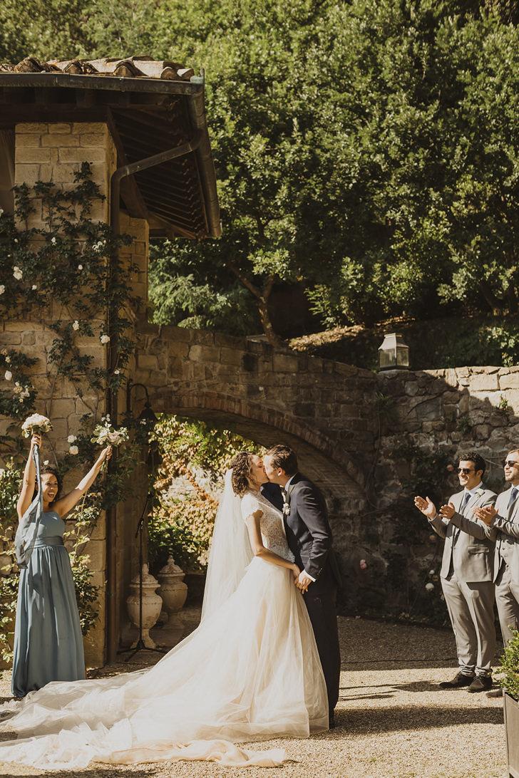 Bridal couple at Villa Le Fontanelle