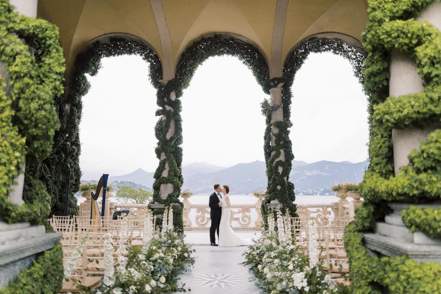 Wedding ceremony in the Loggia