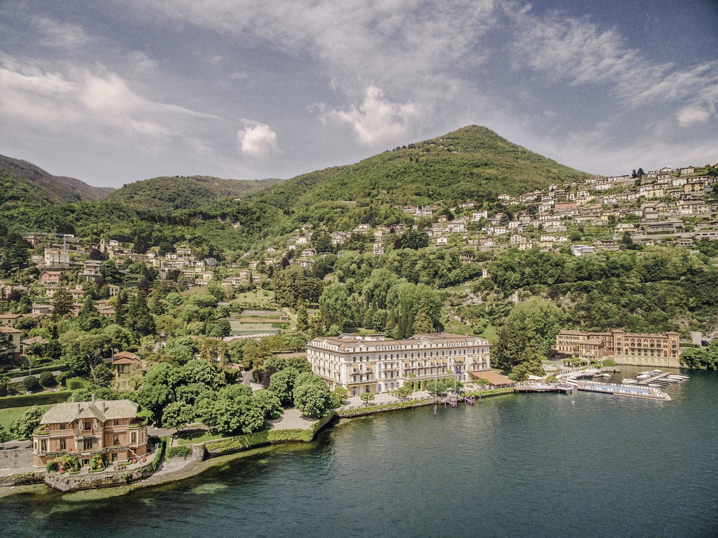 Aerial view of Villa D'Este, Lake Como