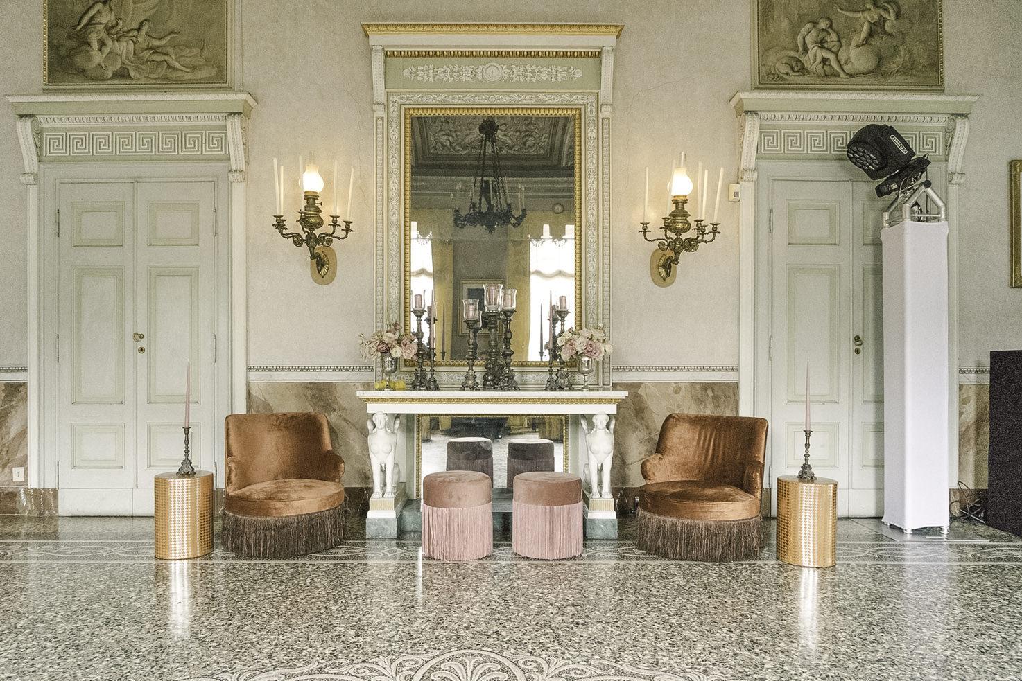 Interior of Villa Pizzo