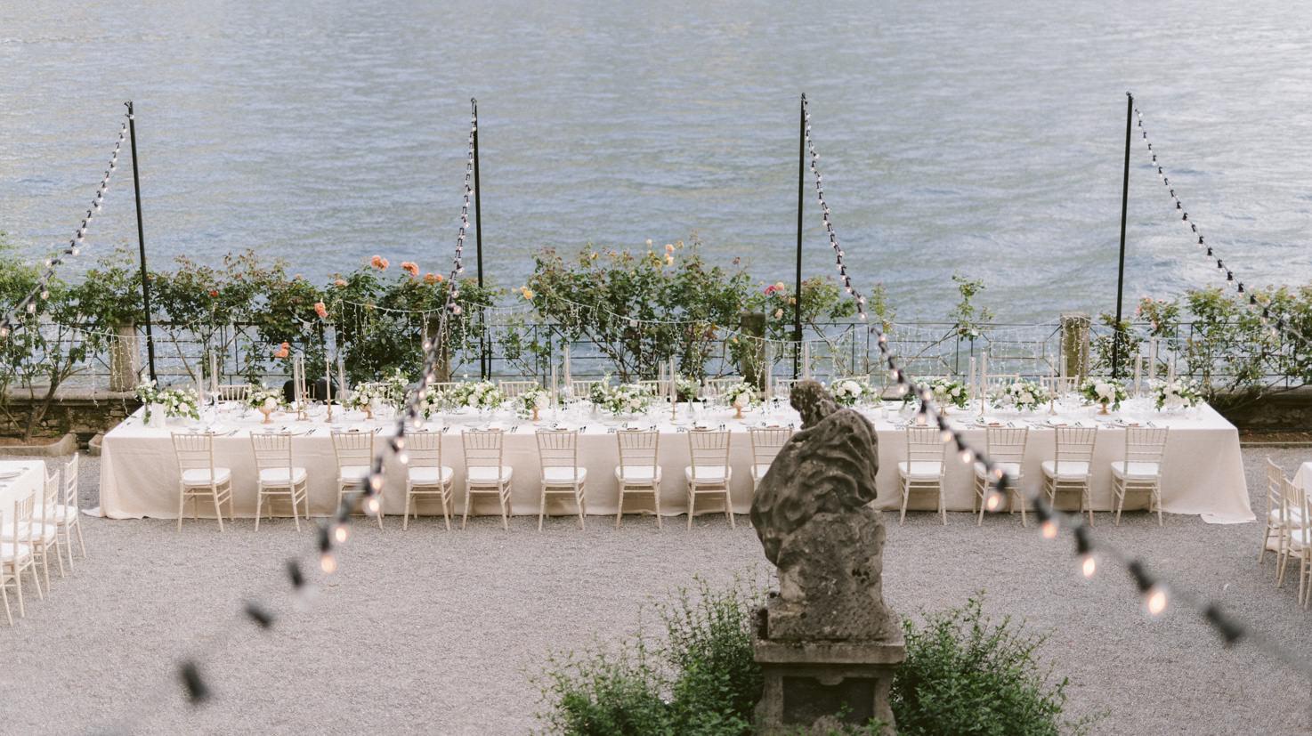 Wedding banquet at Villa Pizzo