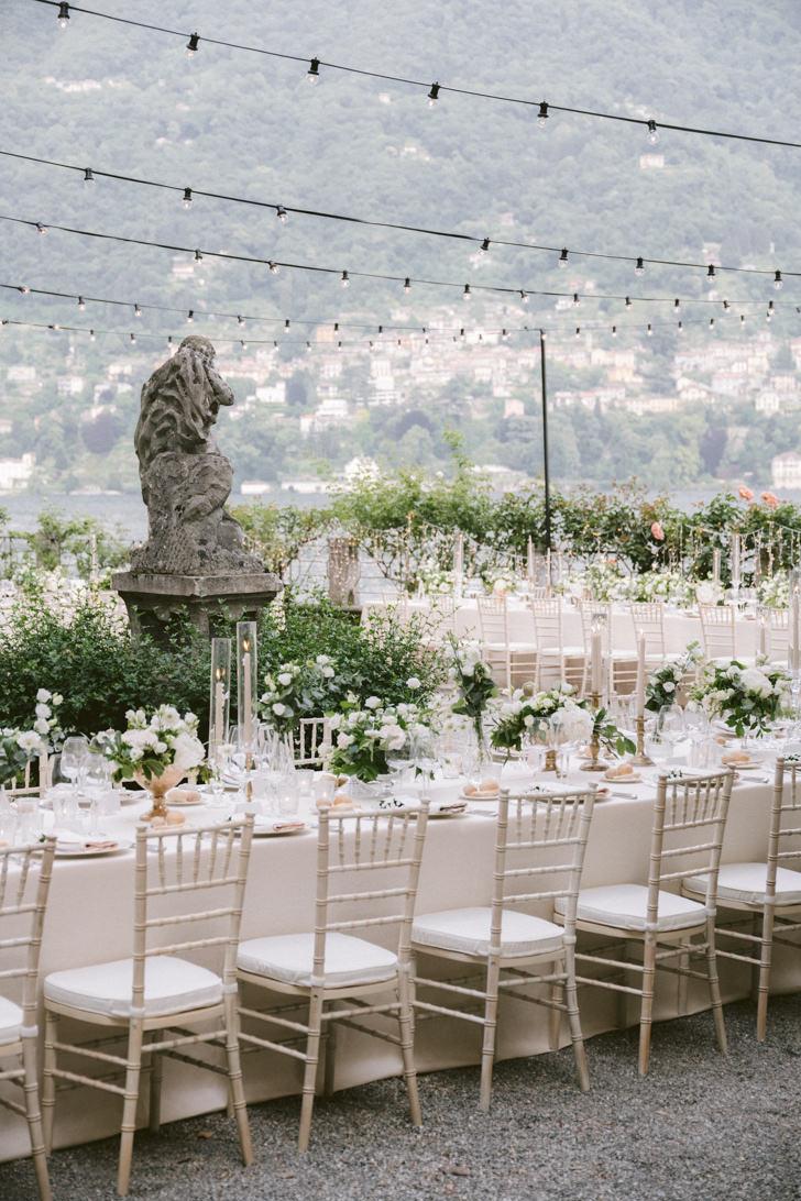 Wedding reception at Villa Pizzo