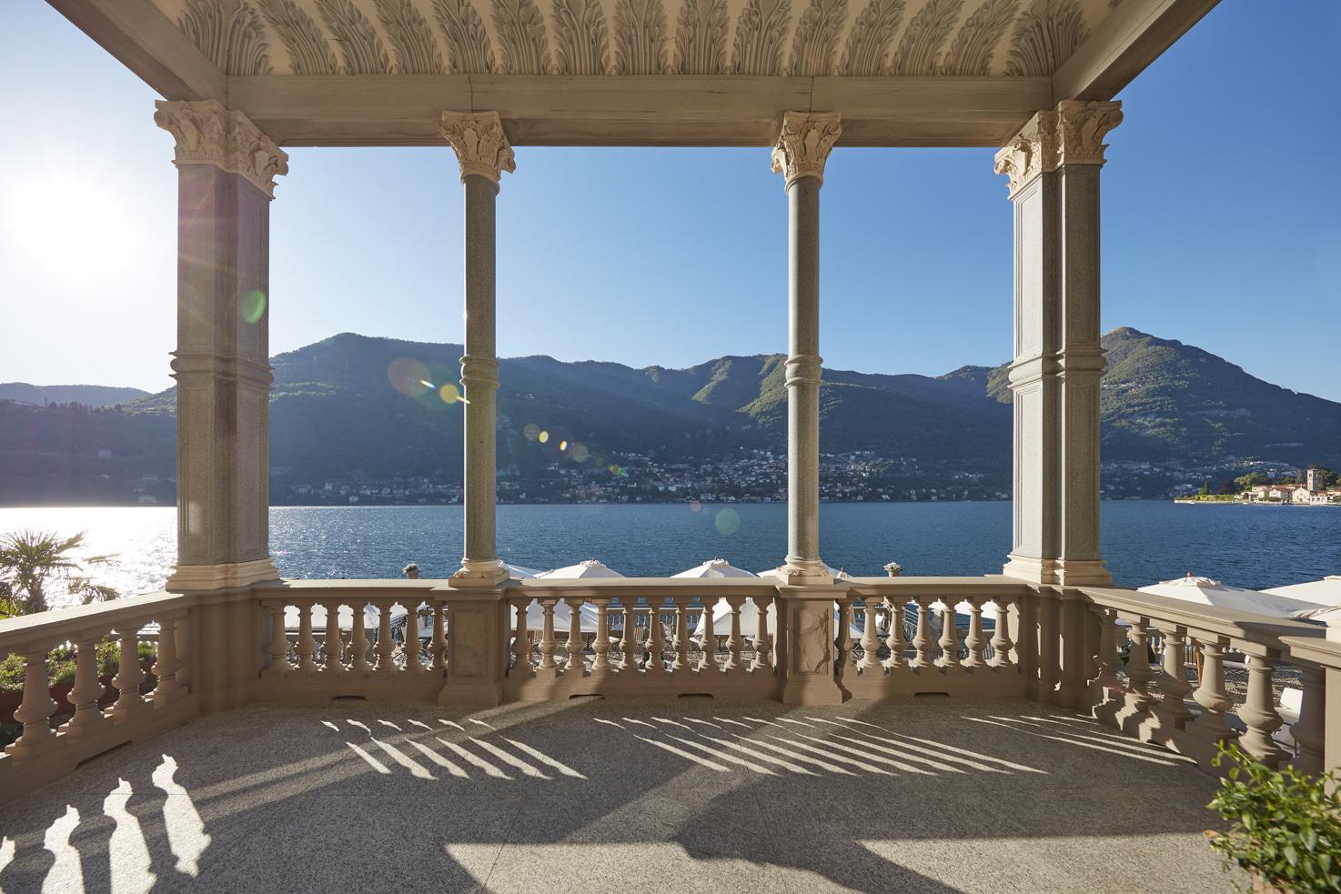 Panoramic terrace on Lake Como