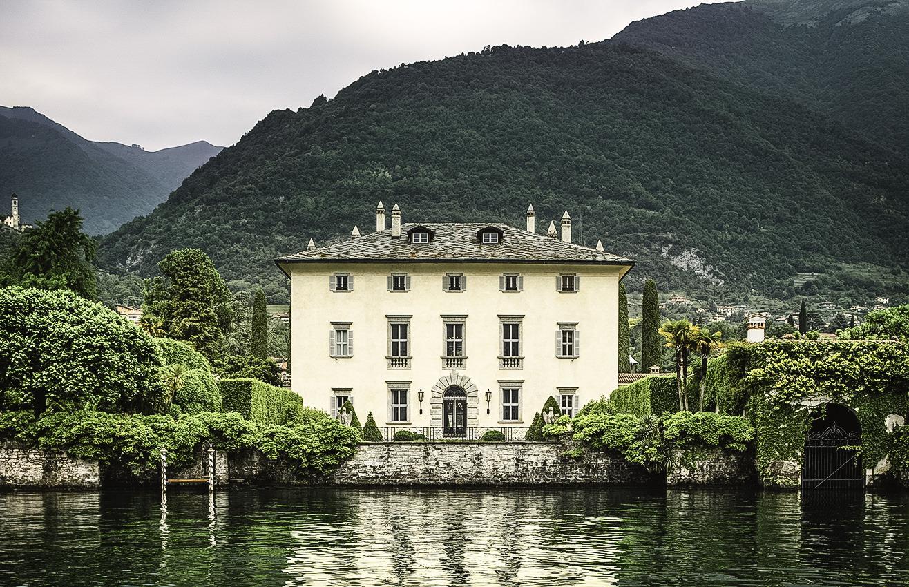 Façade of Villa Il Balbiano, Lake Como