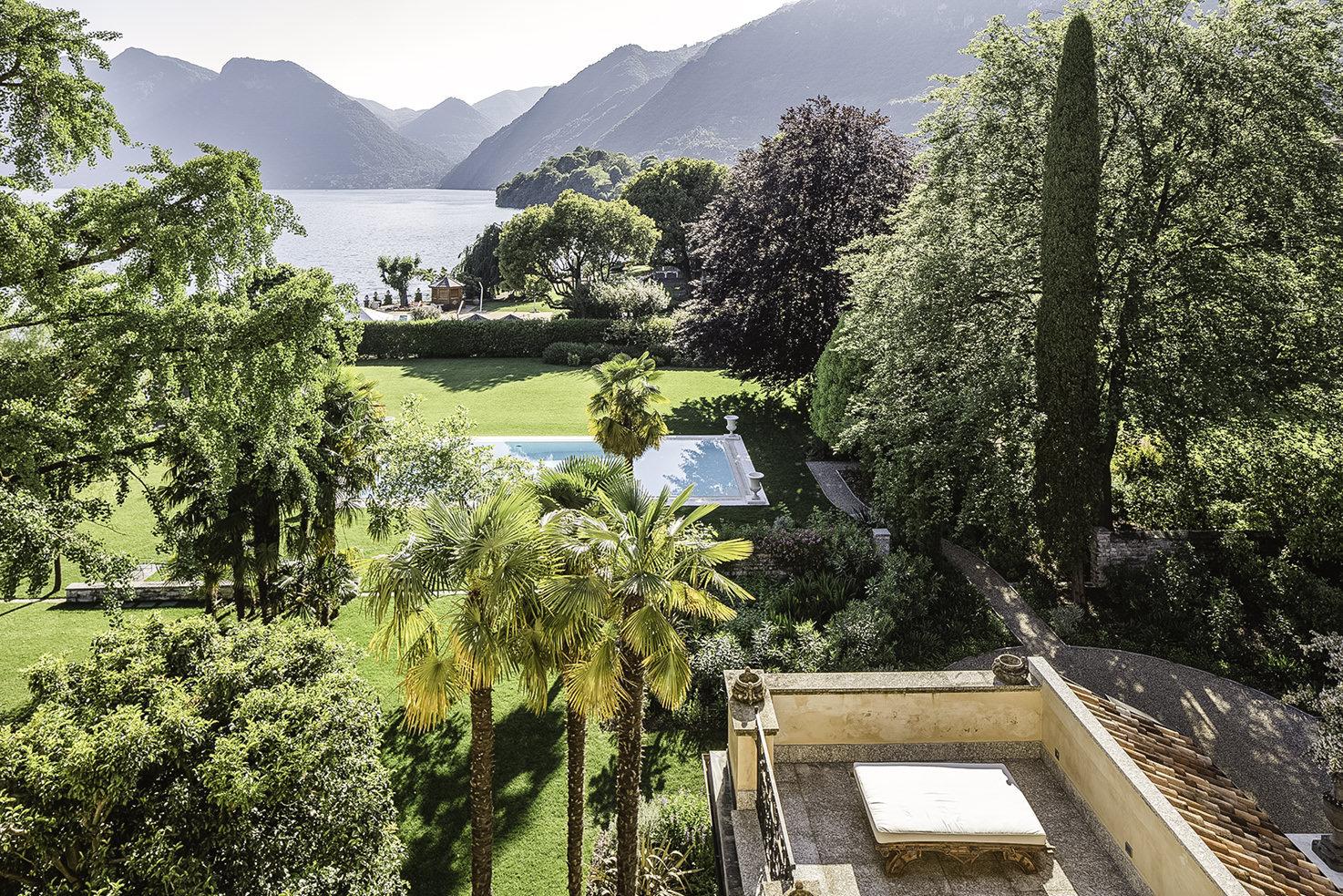 Garden pool of Villa Il Balbiano