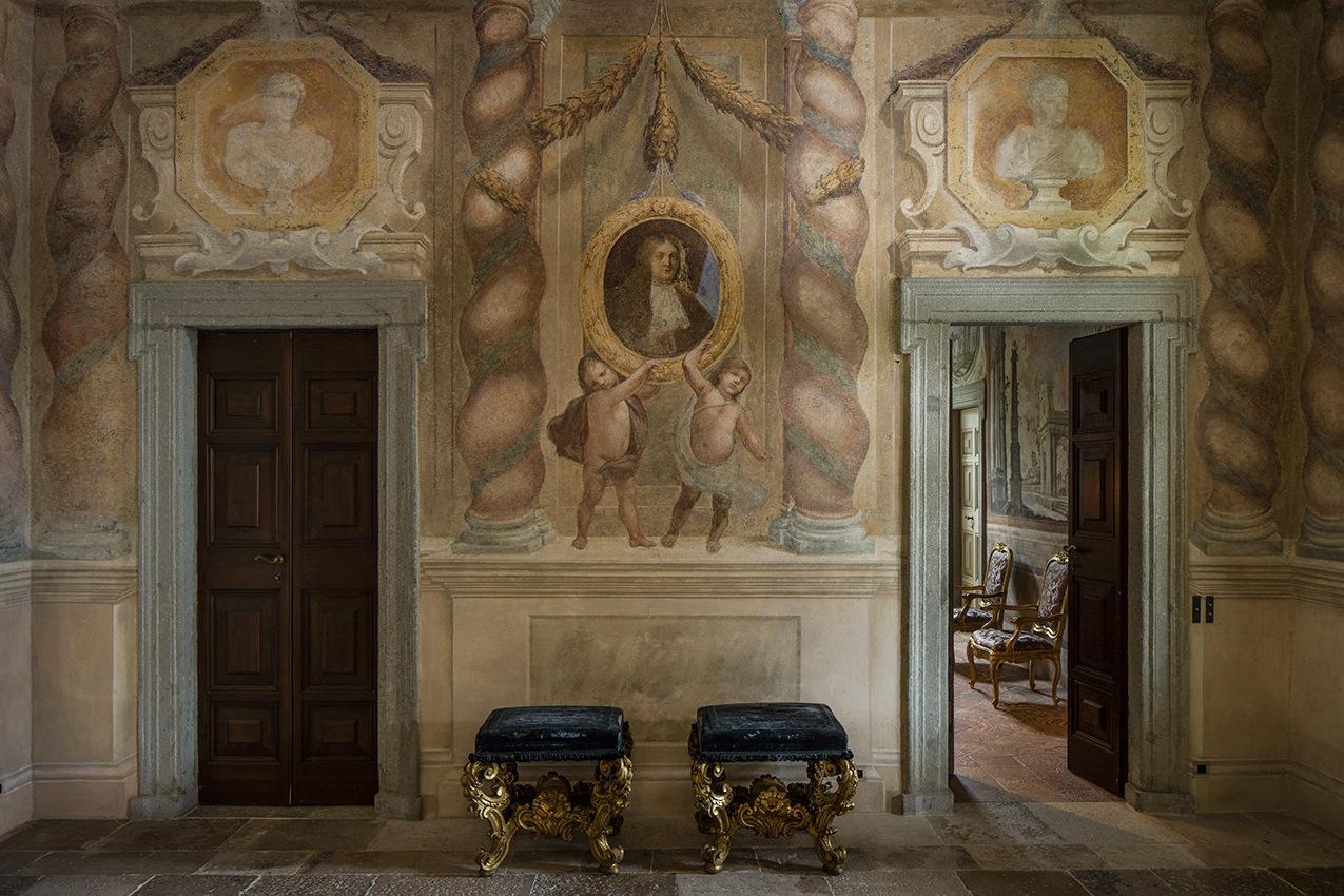 Baroque frescoes at Villa Il Balbiano