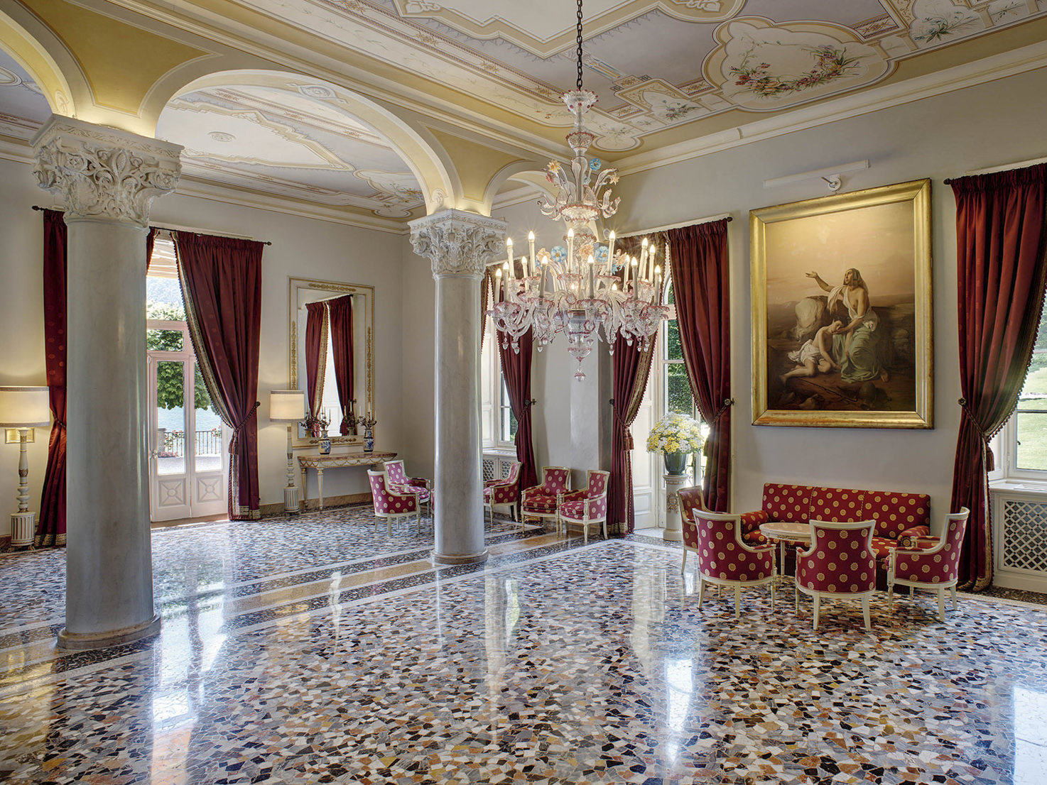 Sala Colonne of Villa D'Este