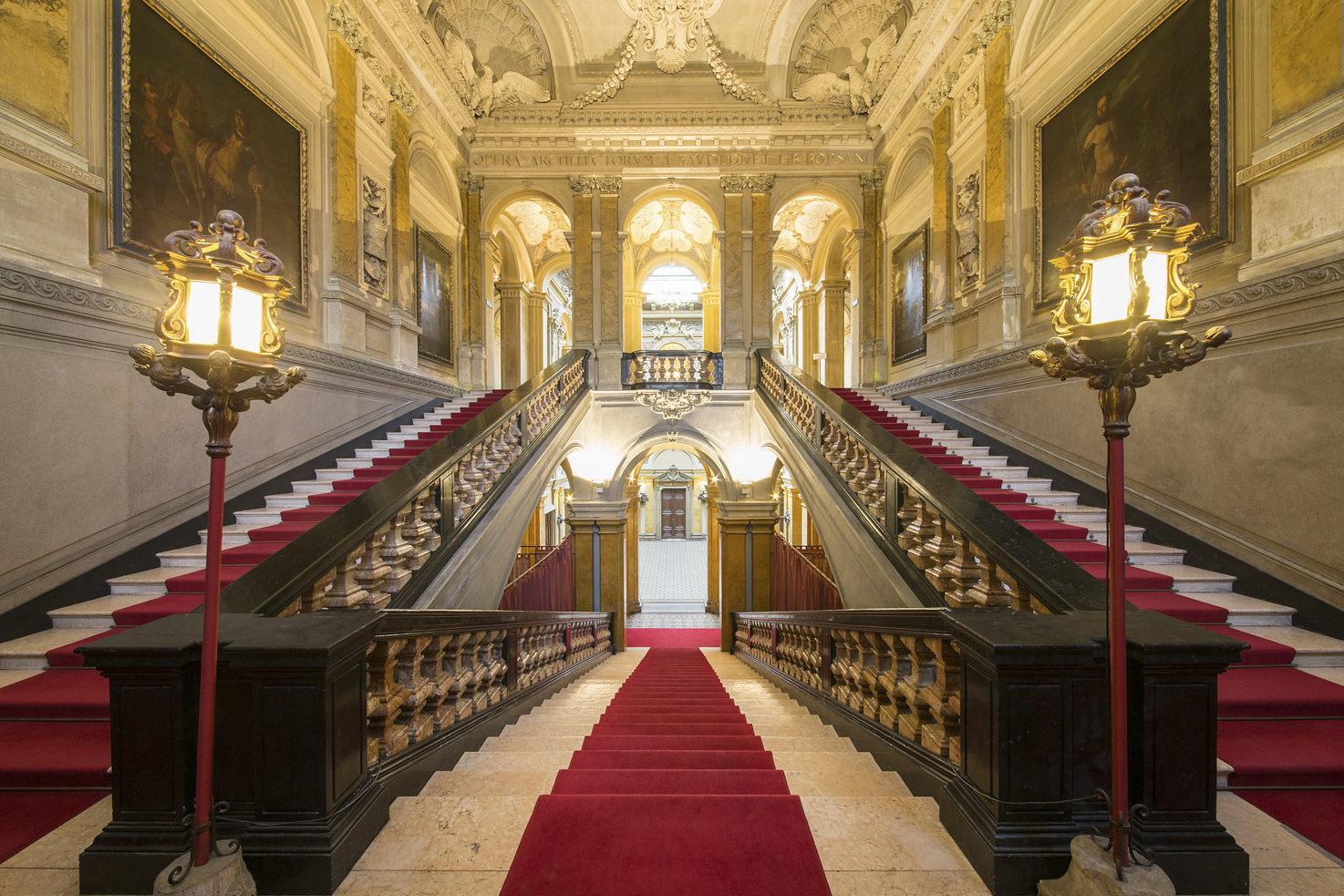 Monumental staircase at Villa Erba