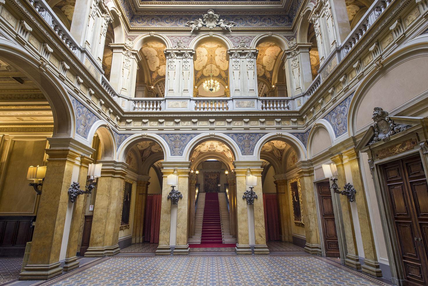 Frescoed interiors of Villa Erba