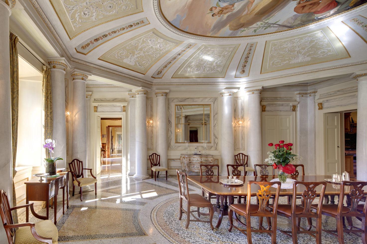 Frescoed dining room