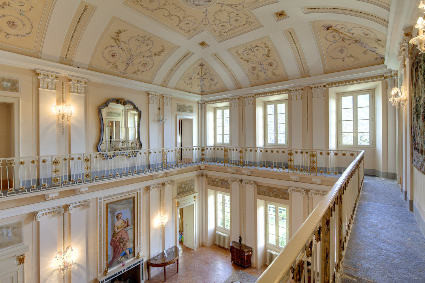 Balcony of music room