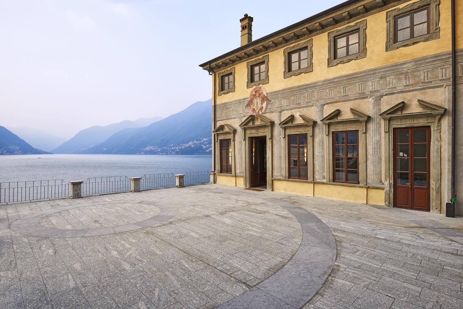 Façade of Villa Pliniana on Lake Como