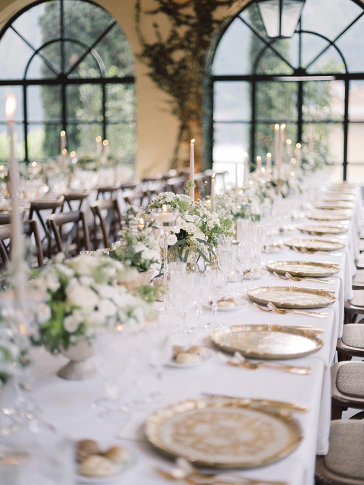 Wedding banquet at Villa del Balbianello