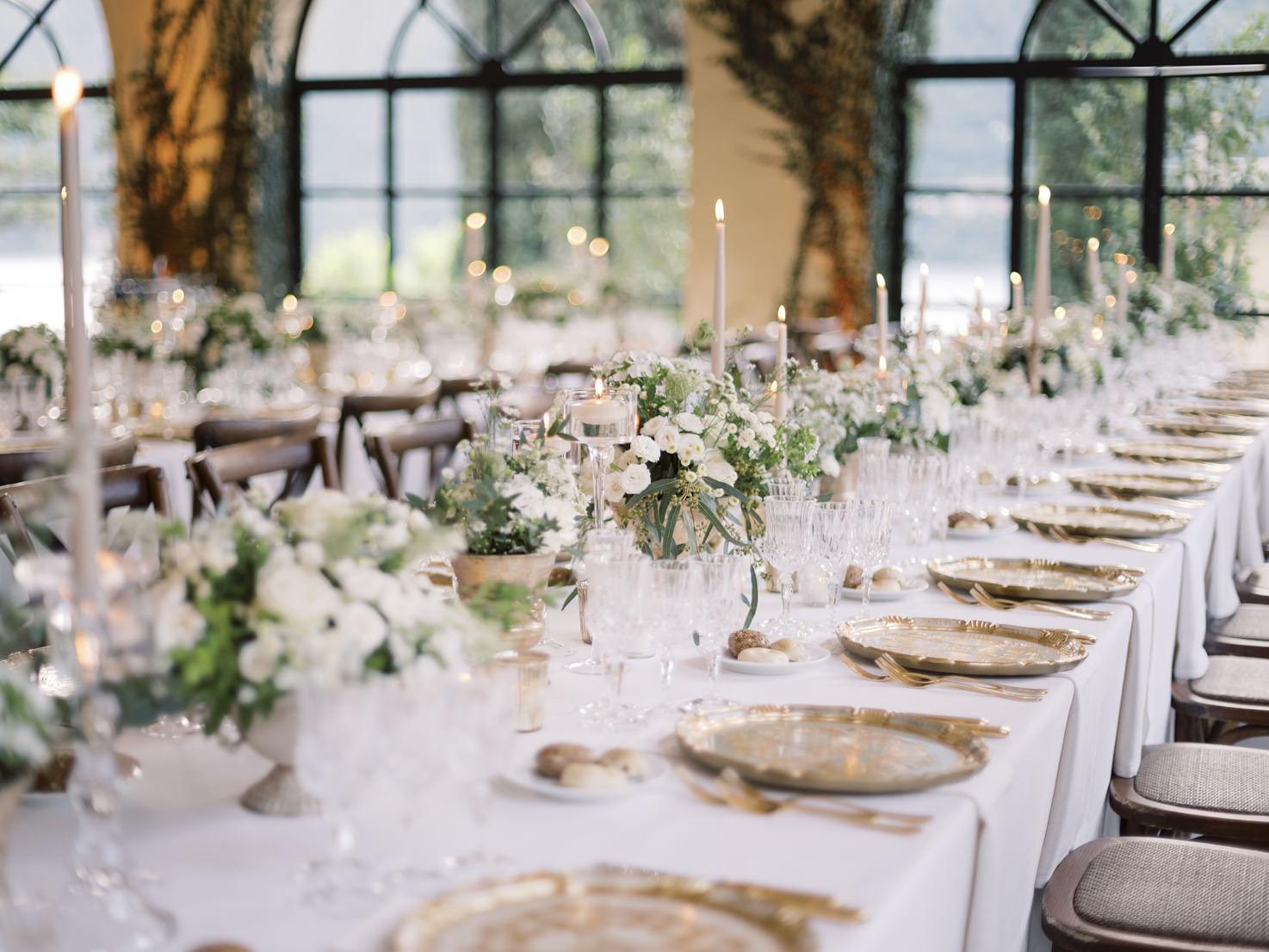 Wedding reception at Villa del Balbianello