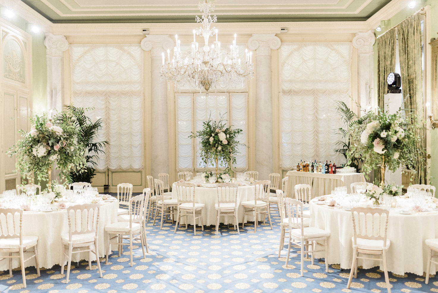 Wedding reception at Villa D'Este