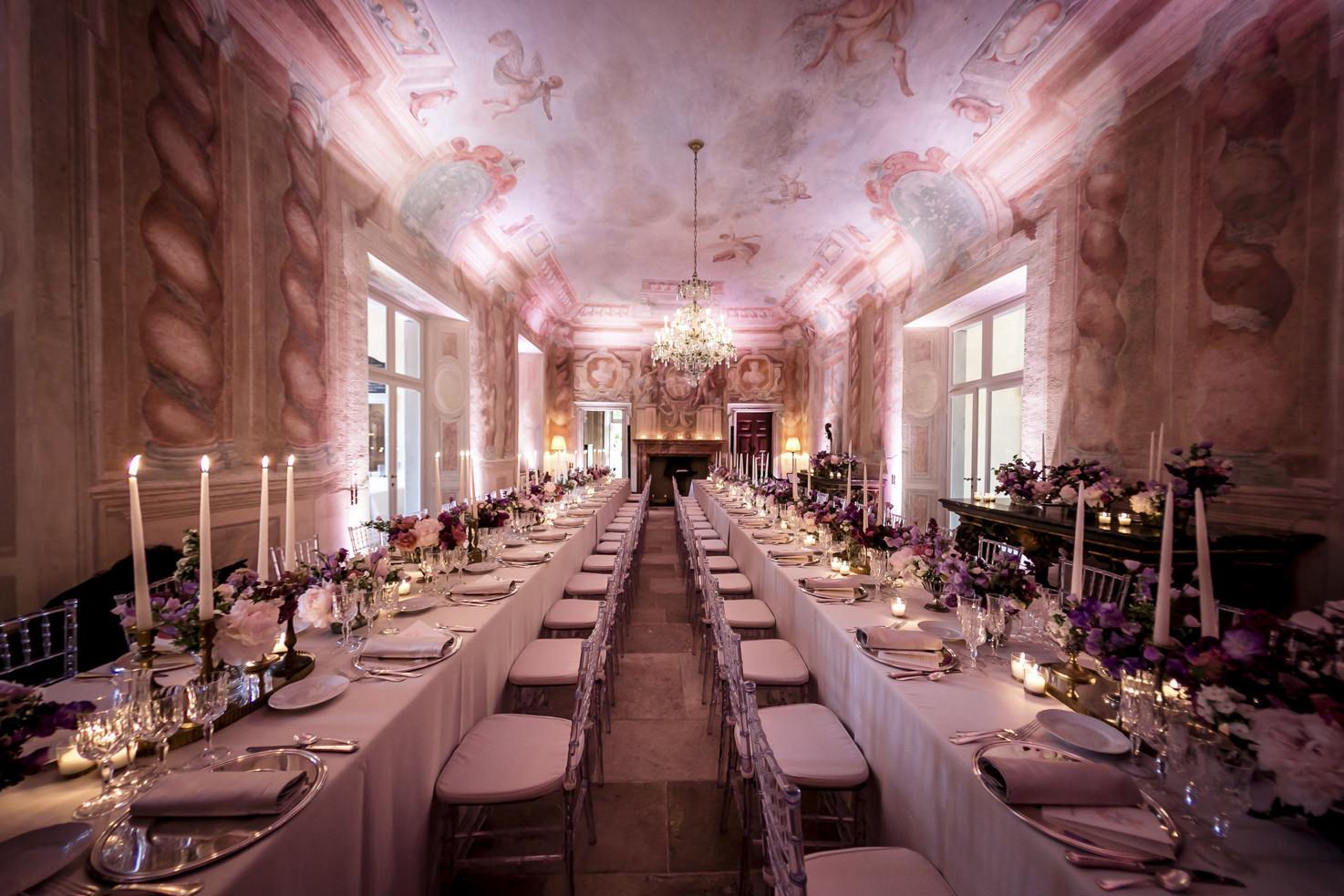 Wedding banquet at Villa il Balbiano