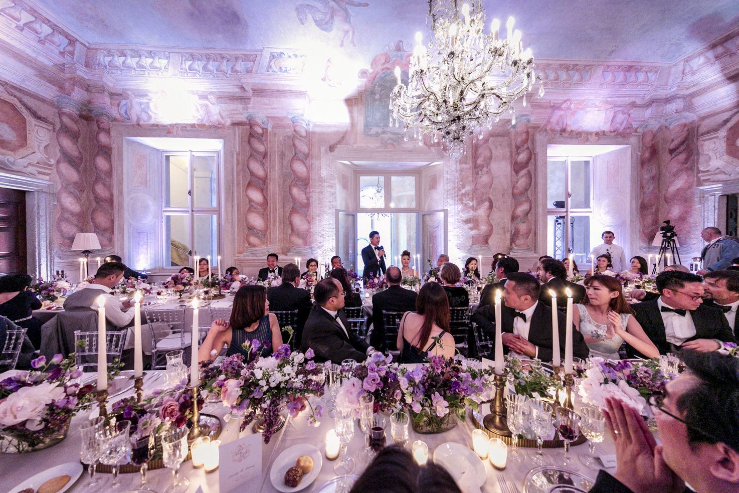 Wedding reception at Villa Il Balbiano