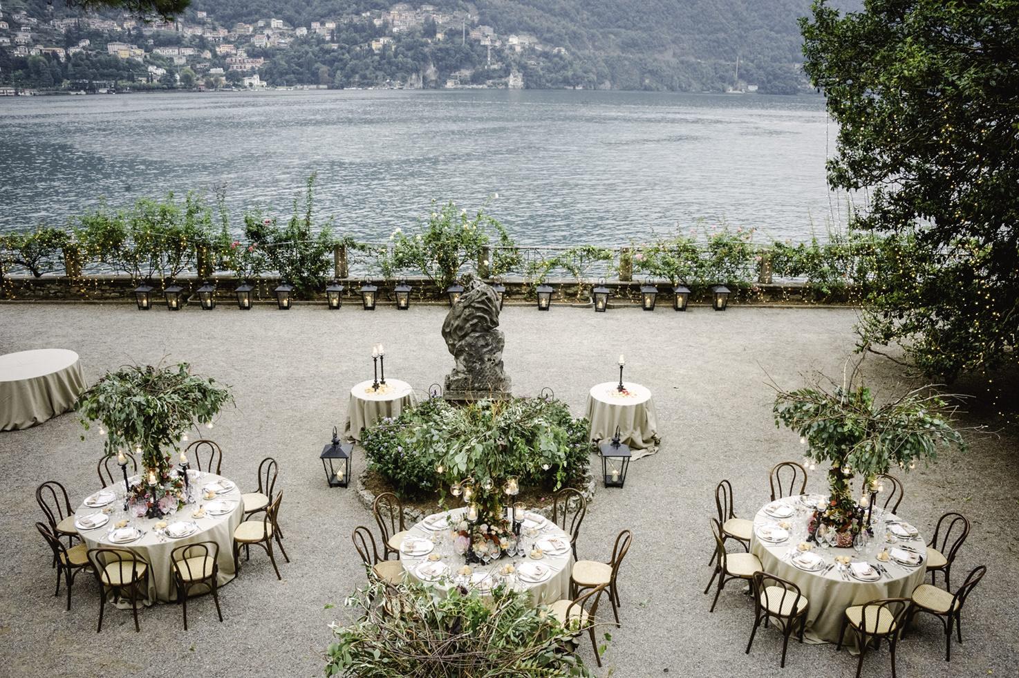 Wedding reception on Lake Como