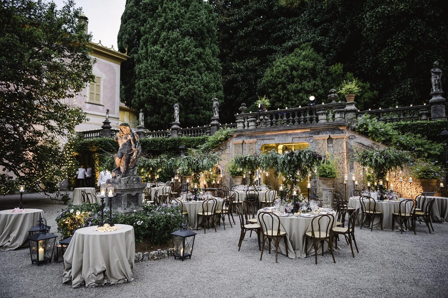 Wedding banquet in Lake Como
