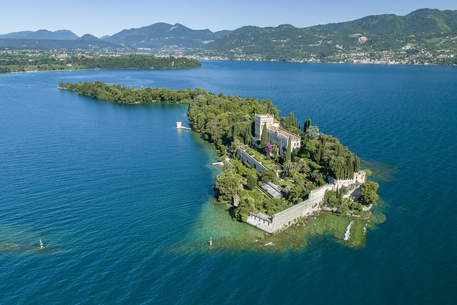 Aerial view of Isola del Garda, Lake Garda