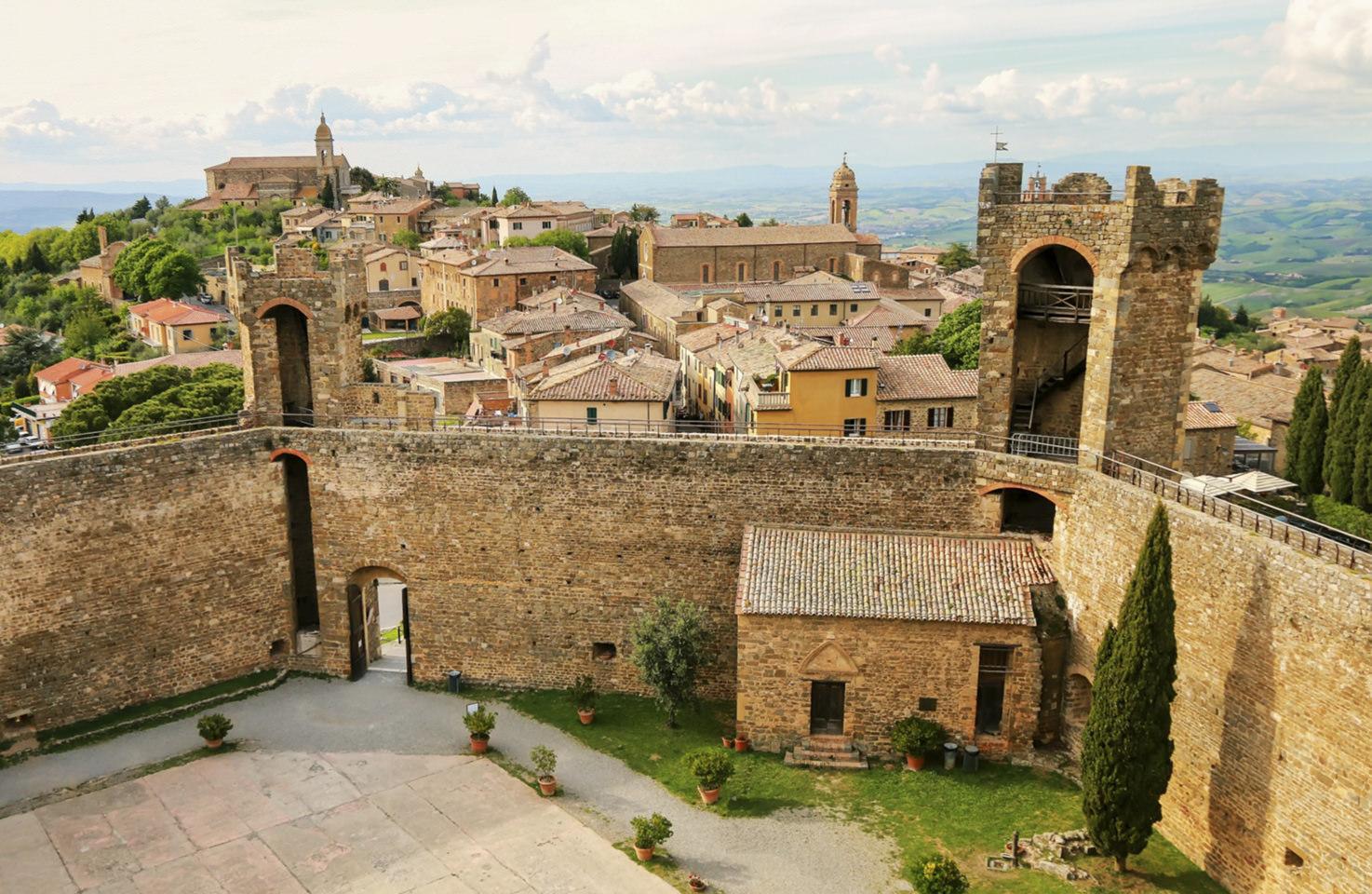 Panorama of Montalcino, Tuscany