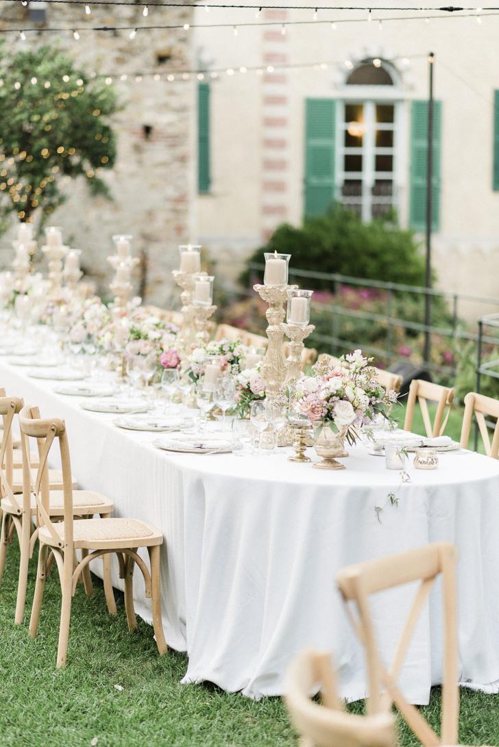 Wedding banquet in the gardens