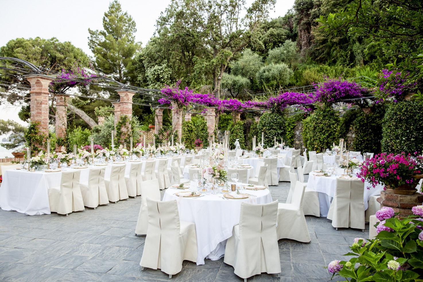 Wedding banquet at La Cervara