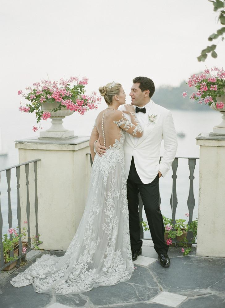 Bridal couple at La Cervara