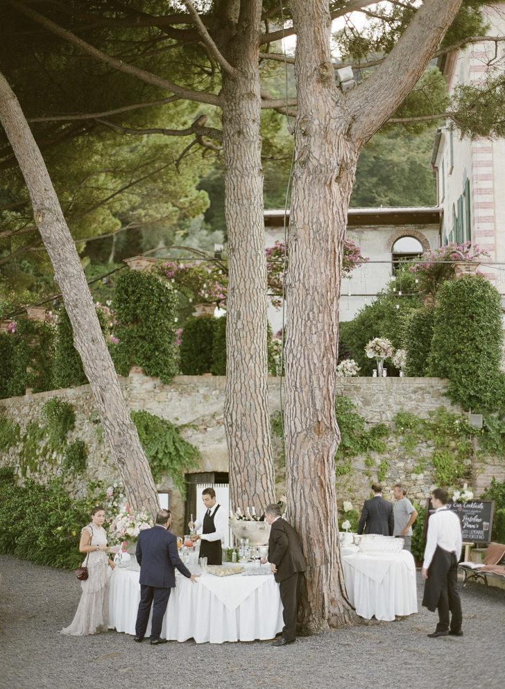 Wedding cocktail at La Cervara