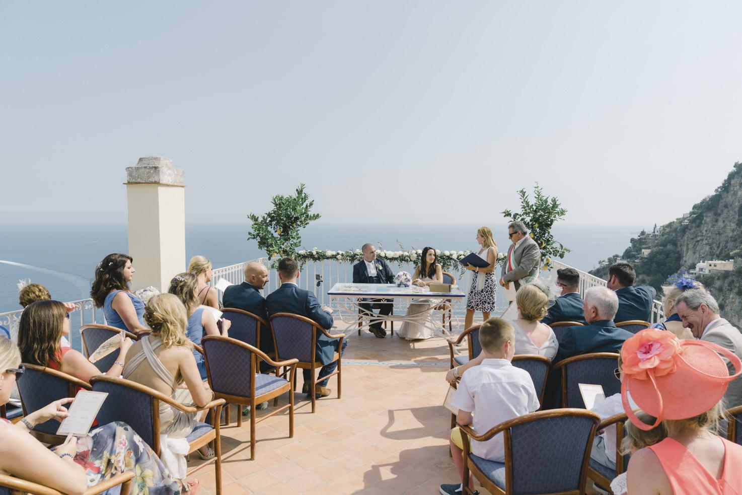 Outdoor civil ceremony in Positano