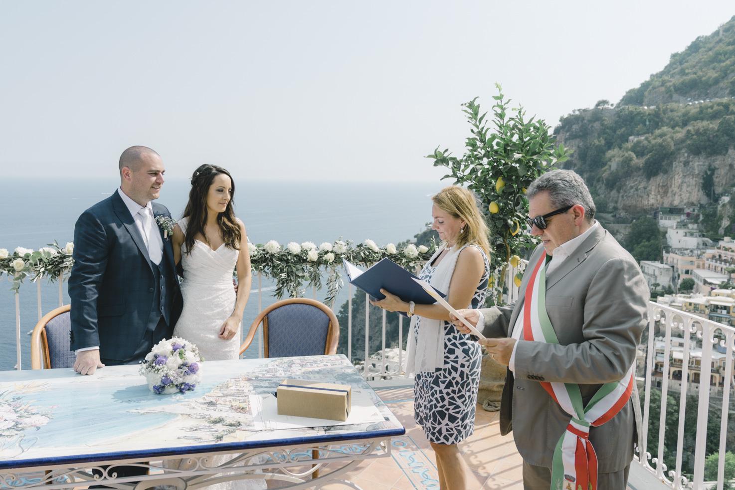 Civil wedding in Positano